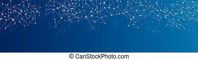 Trasfondo de la red social azul.