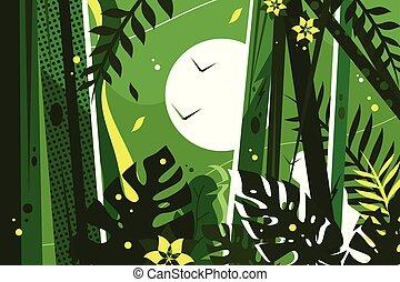 Trasfondo de la selva verde
