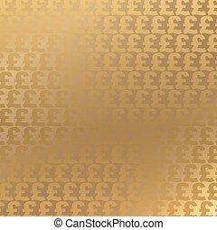 Trasfondo de libras doradas