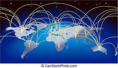 Trasfondo de mapas del mundo
