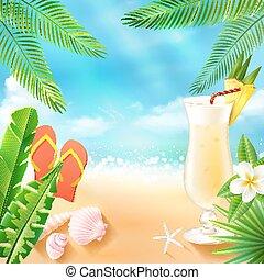 Trasfondo de mar tropical
