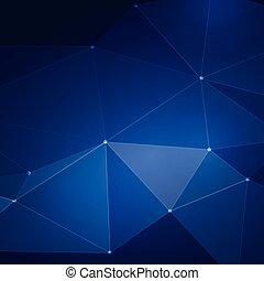 Trasfondo de metal azul abstracto, ilustración de Vector