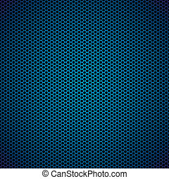 Trasfondo de metal azul hexágono