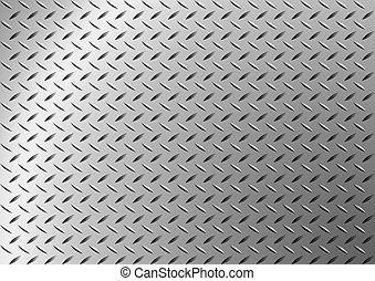 Trasfondo de metal de diamantes