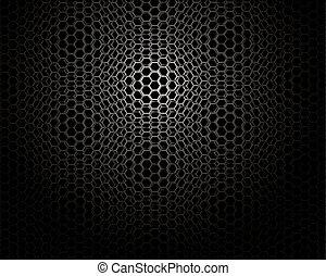 Trasfondo de metal Hexagon con un ligero reflejo de papel pintado ideal
