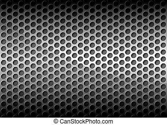 Trasfondo de metal perforado