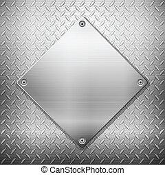 Trasfondo de metales de diamantes y placa