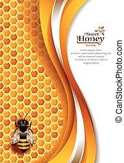Trasfondo de miel abstracto
