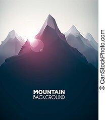 Trasfondo de montaña