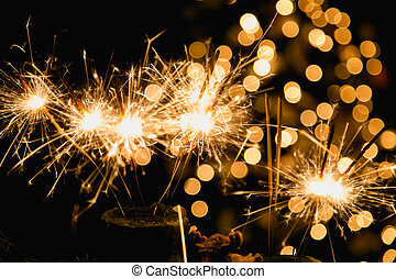 Trasfondo de Navidad atmosférico con fuegos artificiales