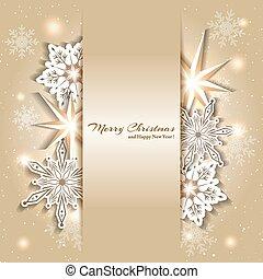 Trasfondo de Navidad brillante con copos de nieve