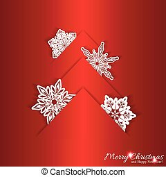 Trasfondo de Navidad Roja