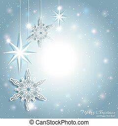 Trasfondo de nieve estrella de Navidad brillante