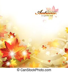 Trasfondo de otoño con follaje