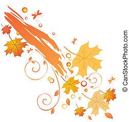 Trasfondo de otoño