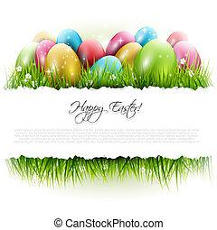 Trasfondo de Pascua con espacio de copiado