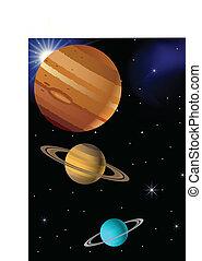 Trasfondo de planetas