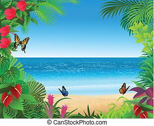 Trasfondo de playa tropical