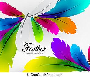 Trasfondo de plumas coloridas