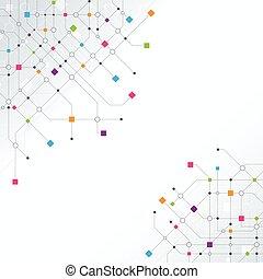 Trasfondo de red abstracto