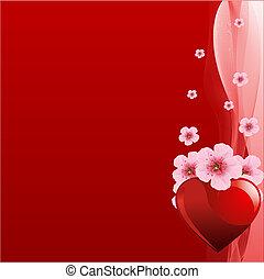 Trasfondo de San Valentín Rojo