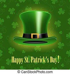 Trasfondo de St. Patrick Day con sombrero