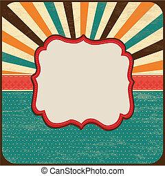 Trasfondo de tarjetas, marco de frontera, bandera