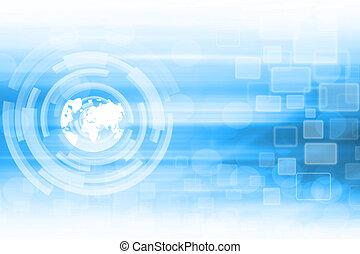 Trasfondo de tecnología abstracta azul