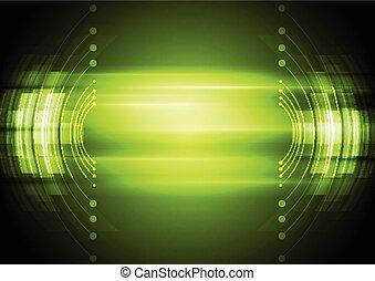 Trasfondo de tecnología abstracta verde