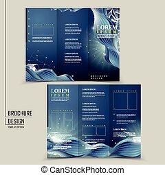 Trasfondo de tecnología abstracto para el folleto tri-pliegado