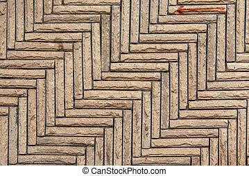 Trasfondo de textura de pared de piedra marrón
