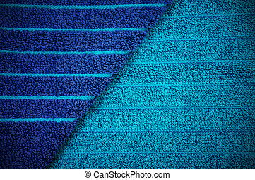 Trasfondo de toallas a rayas azules