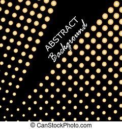 Trasfondo de triángulo abstracto. Antecedentes de oro. Ilustración de vectores
