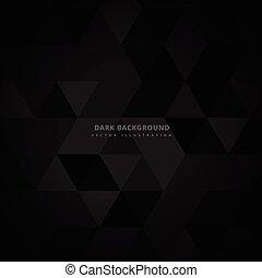 Trasfondo de triángulo oscuro abstracto