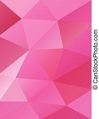 Trasfondo de triángulos rosas abstractos