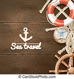 Trasfondo de viaje en el mar