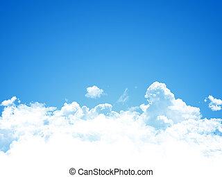 Trasfondo del cielo azul