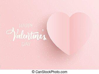Trasfondo del Día de San Valentín con corazón rosa
