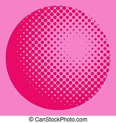 Trasfondo del globo radial rosa