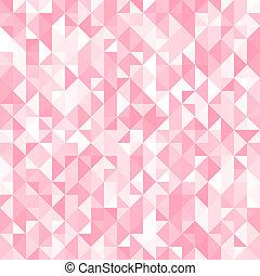 Trasfondo del triángulo rosado abstracto. Ilustración de vectores