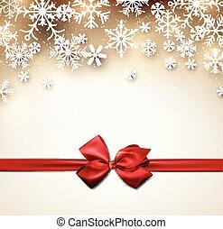 Trasfondo estrella de Navidad con cinta.
