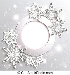 Trasfondo estrella de nieve de Navidad brillante
