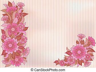 Trasfondo floral antiguo, vector