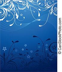 Trasfondo floral azul