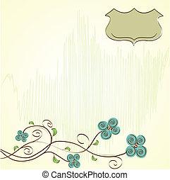 Trasfondo floral romántico