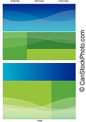 Trasfondo fronterizo azul triplicado
