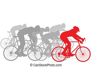 Trasfondo ganador de un ciclista