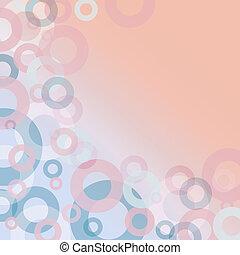 Trasfondo geométrico abstracto con círculos