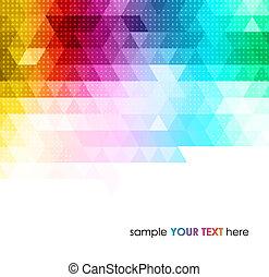Trasfondo geométrico abstracto y colorido