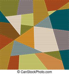 Trasfondo geométrico en estilo de parches